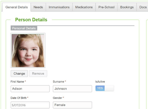 Create a complete profile for each child in Harmony for Educators.
