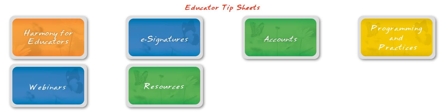 Harmony Web for Educators Support Portal